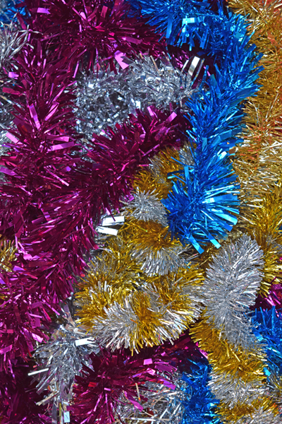 Coloured tinsel